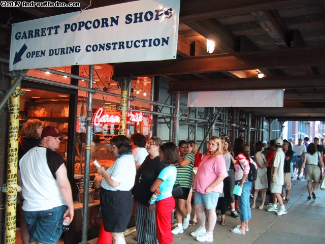 Garrett Popcorn. Ridiculously popular. Now taking orders online, even by web phone! (click for next photo)