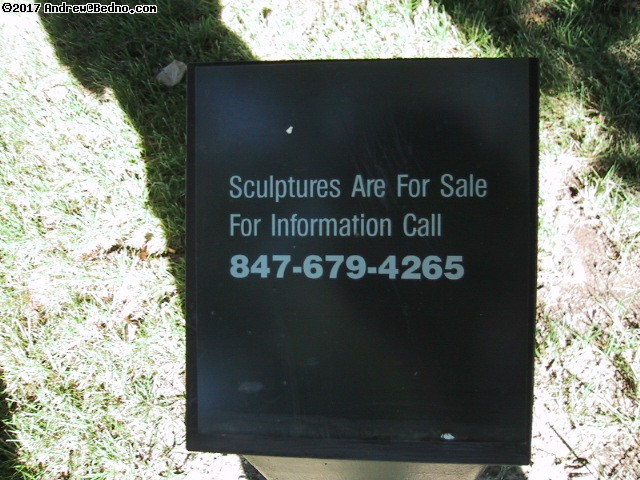 Sculptures are for sale. For information call 847-679-4265. (click for next photo)