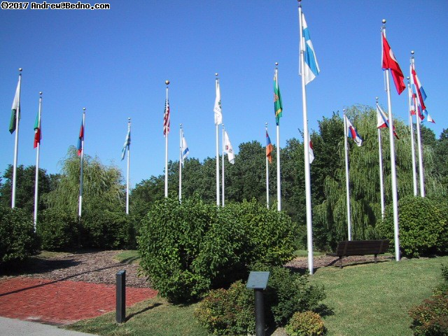 Flags of many nations. (click for next photo)