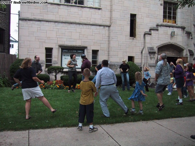 Luther Memorial Church: Happy people at play. (click for next photo)