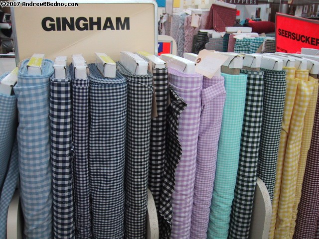 Gingham and seersucker. (click for next photo)
