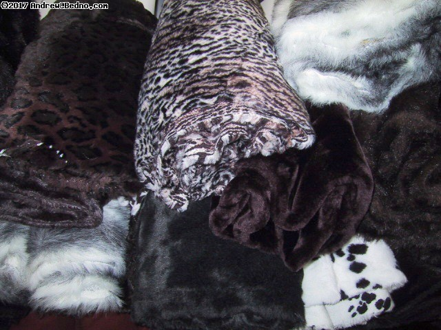 Faux fur remnants. (click for next photo)