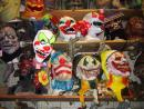 Fantasy Costume: Rubber masks department: Evil clowns. (click to zoom)