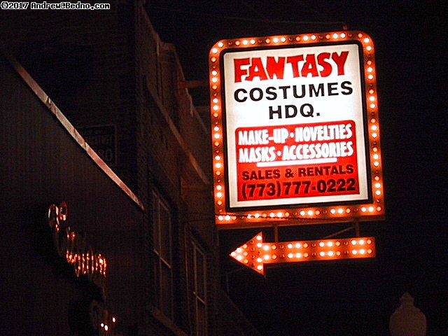 Fantasy Costume: Marquee sign. (click for next photo)