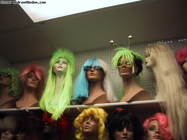 Fantasy Costume: Wigs galore. (click for next photo)