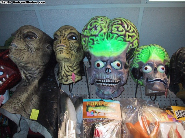 Fantasy Costume: Rubber masks department: Invaders. (click for next photo)