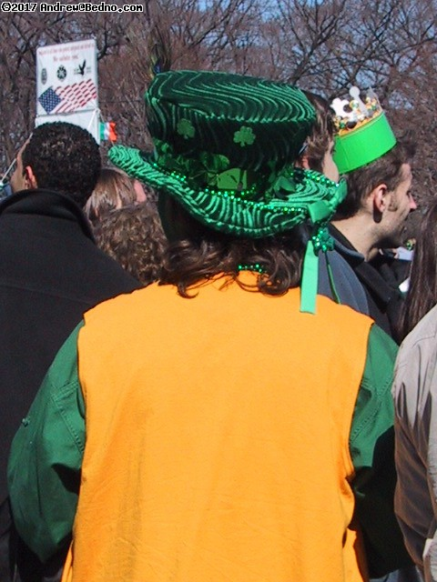 Saint Patrick's Day parade: Genuine Leprechaun. (click for next photo)