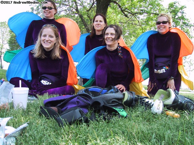 Chicago Bladers as butterflies. (click for next photo)