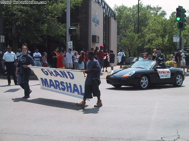 Evanston Independence Day parade: Grand Marshall. (click for next photo)