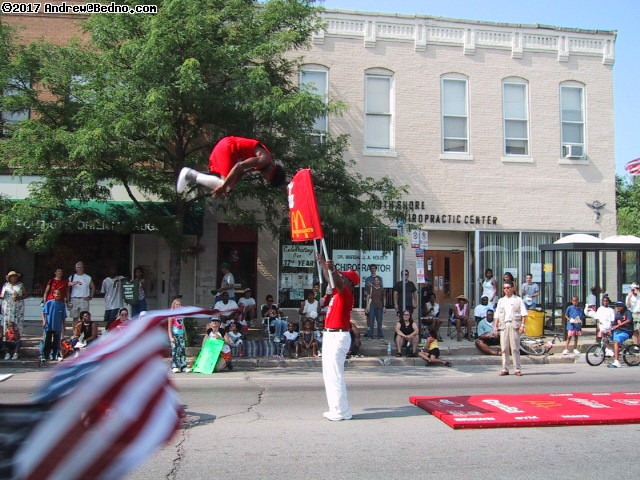 Evanston Independence Day parade: Jesse White Tumblers. (click for next photo)