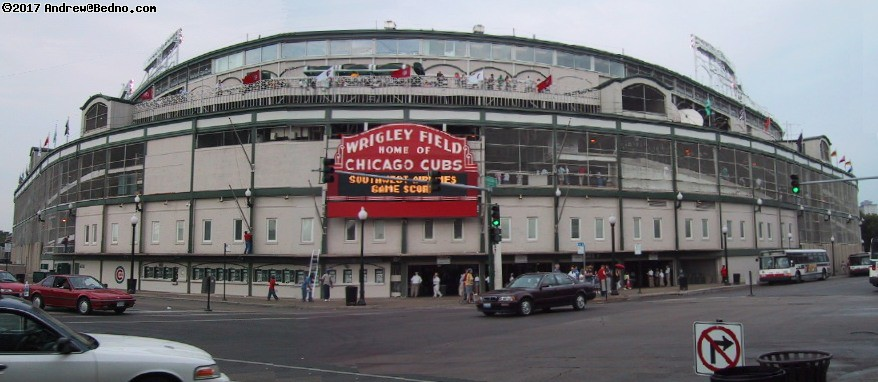 Cubs at Wrigley Field: Panoramic composite view. (click for next photo)