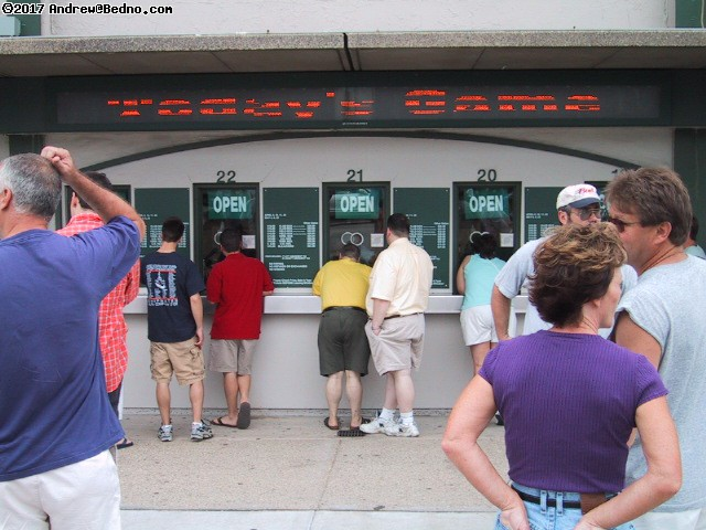 Cubs at Wrigley Field: Ticket windows. (click for next photo)