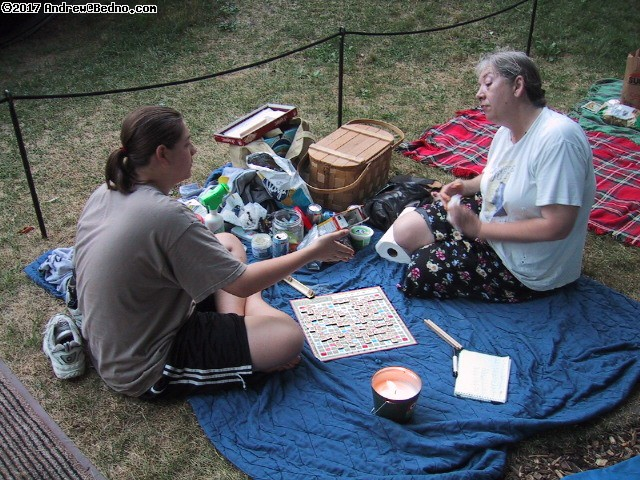 Shakespeare on the Green: Scrabble victory. (click for next photo)