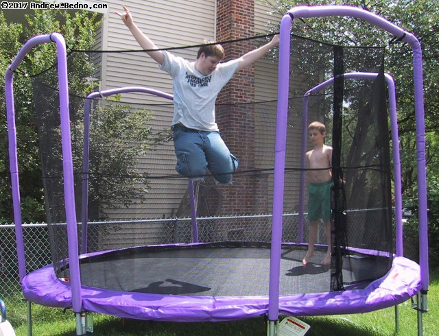Daniel on trampoline. (click for next photo)