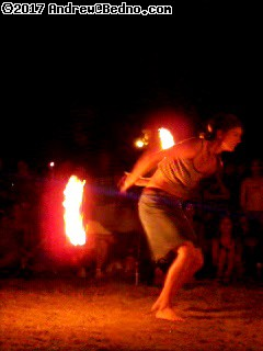 Full Moon Fire Jam at Foster beach. (click for next photo)