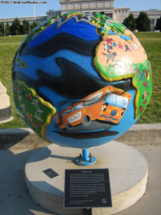 Cool Globes public art. (click for next photo)