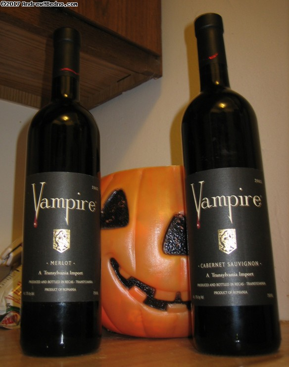 Vampire brand wine. (click for next photo)