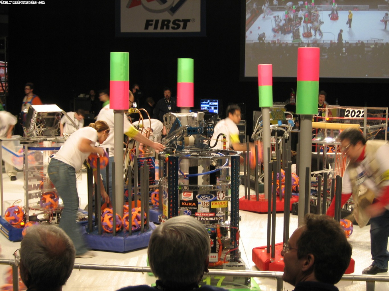 F.I.R.S.T. Robotics Competition Regionals at UIC Pavilion. (click for next photo)