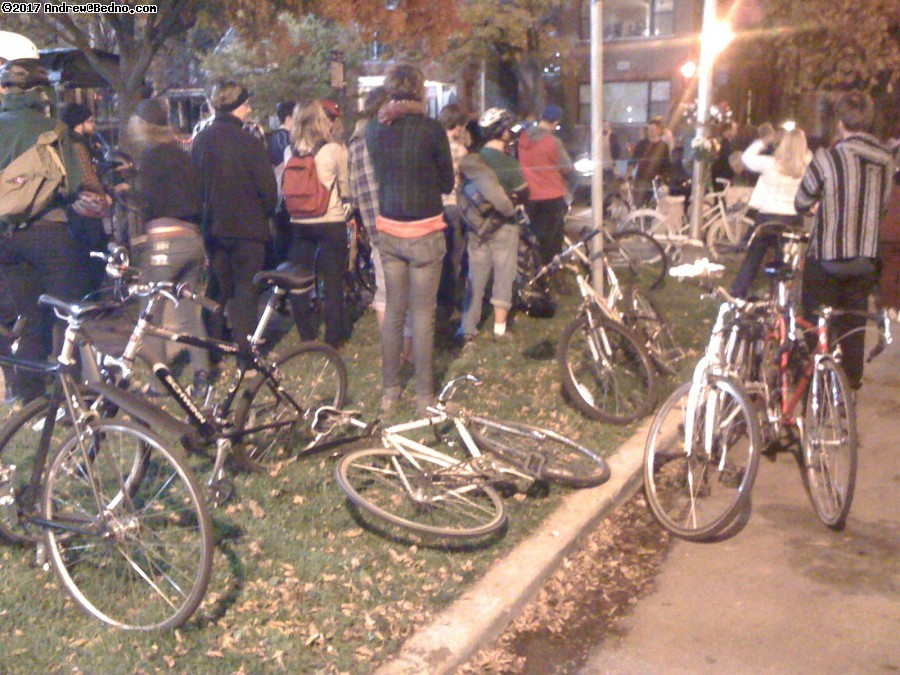 Liza Whitacre ghost bike ceremony. (click for next photo)