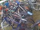 Pile of parked bikes. (click to zoom)