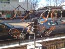 Bike based sculpture in Rogers Park. (click to zoom)