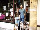 1997. Nancy and Dave w/ Lady, Bud, Artemis, Max. (click to zoom)
