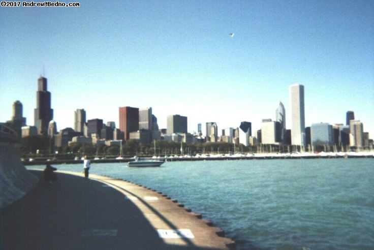 Awesome skyline from behind Shedd.