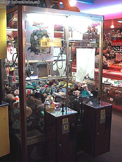 Classic crane/claw game, everyone wins.