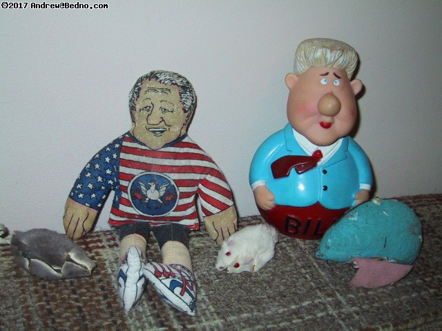 Clinton dolls.