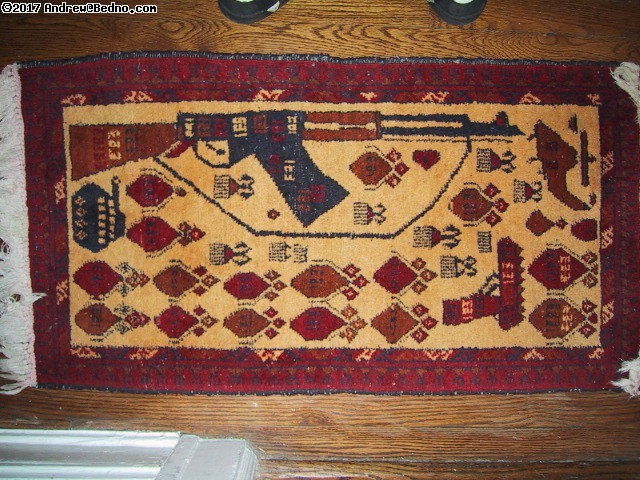 Afghan rebel rug!