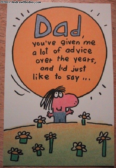 Father's Day card outside. (click for next photo)