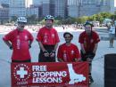 Chicago Skate Patrol free stopping lessons. (click to zoom)