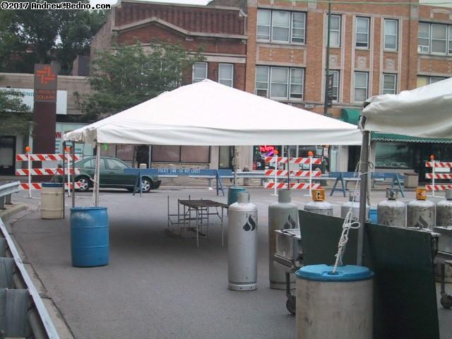 German-American fest tent setup.