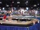 International Model and Hobby Expo: Railroad Demo featured HUGE multi-part HO layout. (click to zoom)