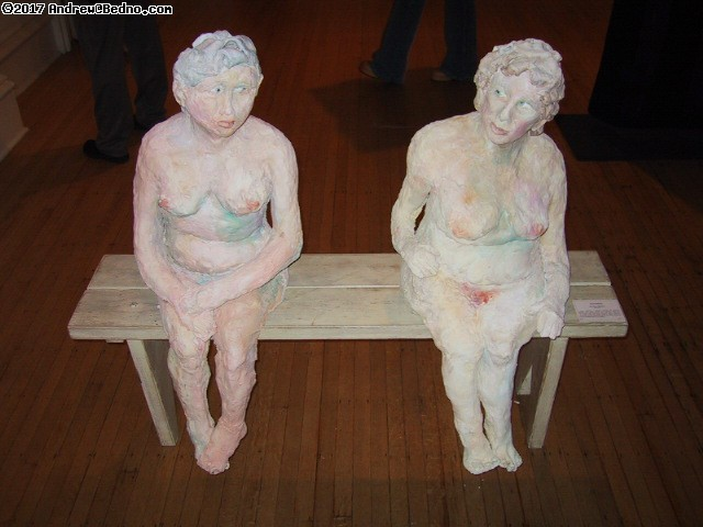 Woman Made Gallery: Plaster crones.