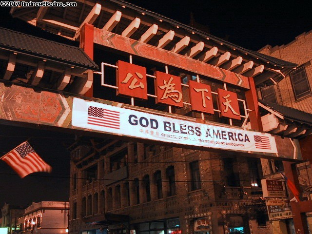 ChinaTown: Entrance. God bless America.