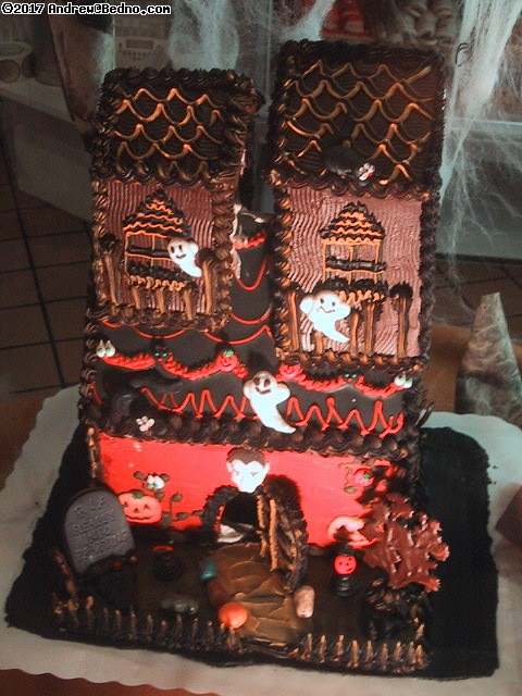 Haunted gingerbread house.