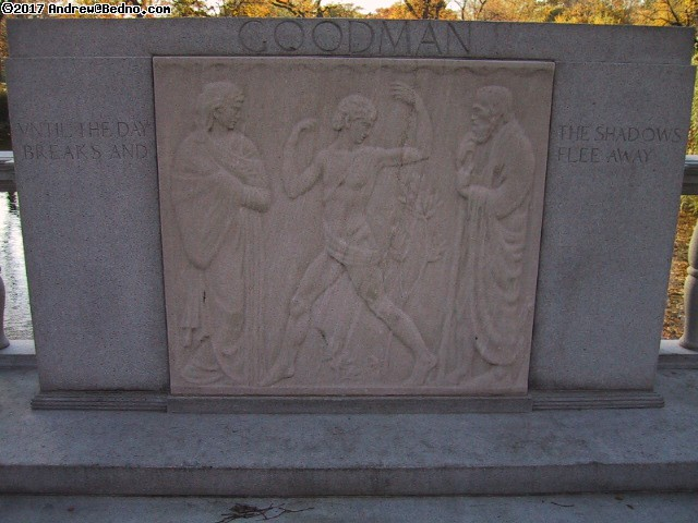 Graceland Cemetery: Relief monument. Goodman.