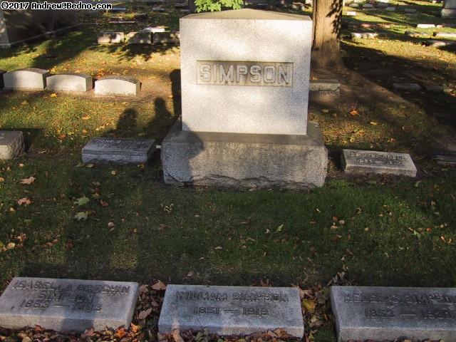 Graceland Cemetery: Simpson family.