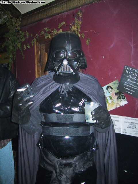 Halloween Nocturna at Metro: Darth Vader.