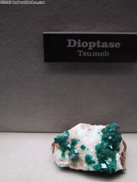 Lizzadro Museum: Dioptase - Tsumeb. (click for next photo)