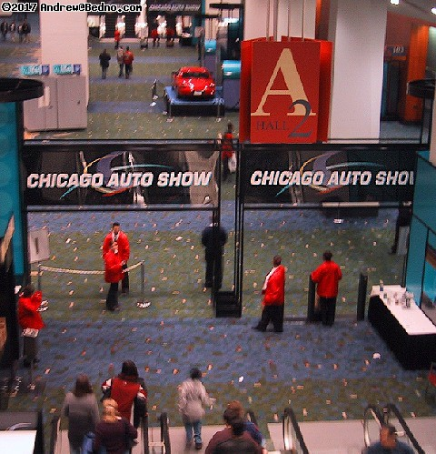 Chicago Auto Show: Entrance.