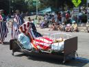 Evanston Independence Day parade: Don't Fall Asleep for democracy. (click to zoom)
