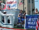 Evanston Independence Day parade: Flirtette Twirlers. (click to zoom)