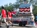 Evanston Independence Day parade: Community Animal Rescue Efforts. (click to zoom)