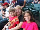Cubs at Wrigley Field: Jenny and kids. (click to zoom)