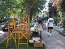 Andersonville giant yard sale: Ladders. (click to zoom)