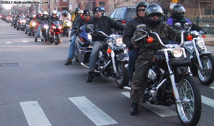 Toys For Tots motorcycle parade.