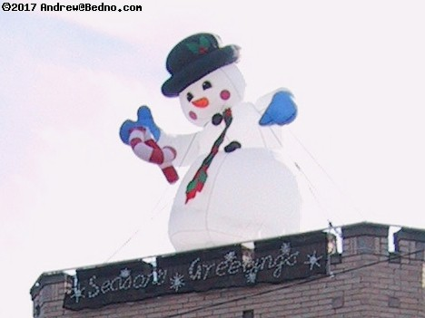 Inflatable snow man.