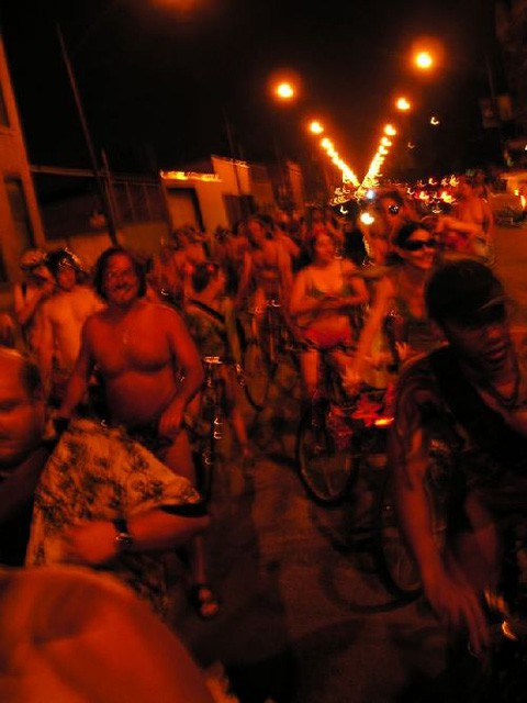 World Naked Bike Ride Chicago.